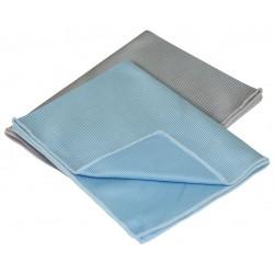 Carrand - 40064 - Blue, Gray Microfiber Towel, 12 x 16, 2 PK