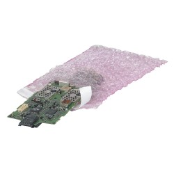 Other - 39UK82 - Pink Color Anti-Static Bubble Bag, 11-1/2 Length, 8 Width, 3/16 Bubble Height