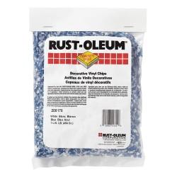 Rust-Oleum - 205178 - 1 lb. Bag Vinyl Floor Chip, Blue, White