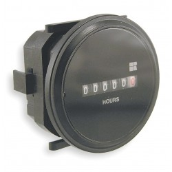 Redington - 722-0003 - Hour Meter, 120 to 240VAC Operating Voltage, Number of Digits: 6, Round Bezel Face Shape
