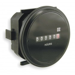 Redington - 732-0003 - Hour Meter, 10 to 80VDC Operating Voltage, Number of Digits: 6, Round Bezel Face Shape