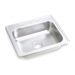 Elkay - DSE125223 - 25 x 22 x 8-1/16 Drop-In Sink with Faucet Ledge with 21 x 15-3/4 Bowl Size