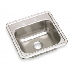 Elkay - K115152 - 15 x 15 x 5-3/16 Drop-In Sink with Faucet Ledge with 12 x 10 Bowl Size