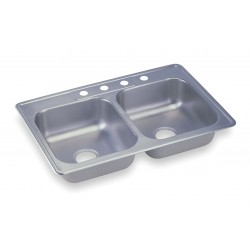 Elkay - K233224 - 33 x 22 x 6-1/16 Drop-In Sink with Faucet Ledge with 14 x 15-3/4 Bowl Size
