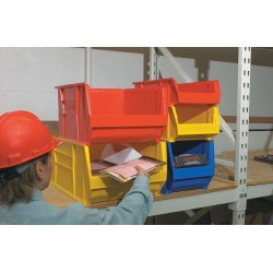 Akro-Mils / Myers Industries - 30281YELLO - Hopper Bin, Yellow, 8H x 20L x 12-3/8W, 1EA