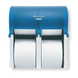 Georgia Pacific - 56743 - Georgia-Pacific Compact Quad Splash Blue Vertical Four Roll Coreless Tissue Dispenser