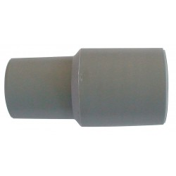 Guardair - 1400A16 - 3-1/2 Impact Resistant Plastic Inlet/Outlet Hose Cuff, Gray