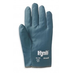 Ansell-Edmont - 32-105 - Smooth Nitrile Canvas Gloves, Glove Size: M, Blue
