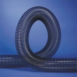 Hi Tech Duravent - 212104002150-10 - 50 ft. Reinforced PVC Industrial Ducting Hose with 4 Bend Radius, Clear/Black