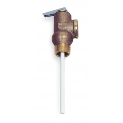 Watts Water Technologies - 3/4 100XL 125 - Temperature and Pressure Relief Valve, 105, 000 BtuH, 125 psi, 4 Thermostat Length