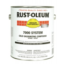 Rust-Oleum - 206193 - 1 gal. Interior/Exterior Cold Galvanizing Compound Covers 310 to 440 sq. ft./gal., Gray