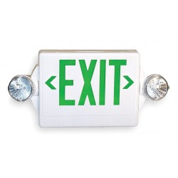 Acuity Brands Lighting - LHQM S W 3 G 120/277 - Emer Exit Sign/light Green, Ea