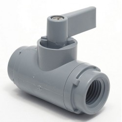 Other - 3990290 - PVC FNPT x FNPT Ball Valve, Wedge, 1/4 Pipe Size