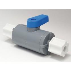 Other - PVC 638-4CJ4CJ-F - PVC Comp. x Comp. Ball Valve, Long, 1/4 Pipe Size
