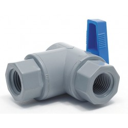 Other - PVC 657-4F4F-F - PVC FNPT x FNPT Ball Valve, Long, 1/4 Pipe Size