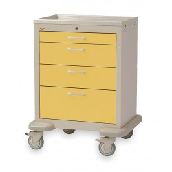 Metro (InterMetro) / Emerson - MBX1210TL-YE - 30D x 24-1/4W x 39H Steel Body/Drawers, Polymer Components Medical Cart, 600 lb. Load Capacity