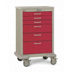 Metro (InterMetro) / Emerson - MBX3210TL-RE - 30D x 24-1/4W x 45H Steel Body/Drawers, Polymer Components Medical Cart, 600 lb. Load Capacity