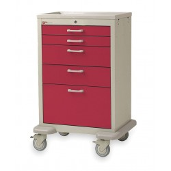 Metro (InterMetro) / Emerson - MBX2201TL-RE - 30D x 24-1/4W x 45H Steel Body/Drawers, Polymer Components Medical Cart, 600 lb. Load Capacity