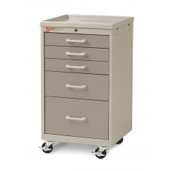 Metro (InterMetro) / Emerson - MBC3110TL-DT - 18-1/2D x 19-1/4W x 34-1/2H Steel Body/Drawers, Polymer Components Medical Cart, 175 lb. Load Cap