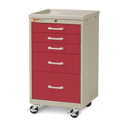 Metro (InterMetro) / Emerson - MBC3110TL-RE - 18-1/2D x 19-1/4W x 34-1/2H Steel Body/Drawers, Polymer Components Medical Cart, 175 lb. Load Cap