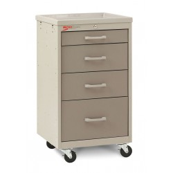 Metro (InterMetro) / Emerson - MBC1210TL-DT - 18-1/2D x 19-1/4W x 34-1/2H Steel Body/Drawers, Polymer Components Medical Cart, 175 lb. Load Cap