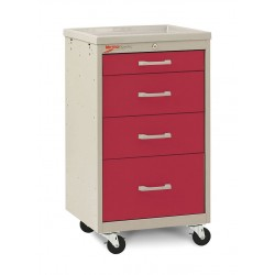 Metro (InterMetro) / Emerson - MBC1210TL-RE - 18-1/2D x 19-1/4W x 34-1/2H Steel Body/Drawers, Polymer Components Medical Cart, 175 lb. Load Cap