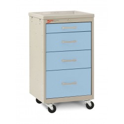 Metro (InterMetro) / Emerson - MBC1210TL-SB - 18-1/2D x 19-1/4W x 34-1/2H Steel Body/Drawers, Polymer Components Medical Cart, 175 lb. Load Cap
