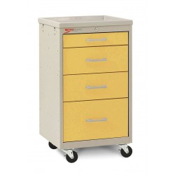 Metro (InterMetro) / Emerson - MBC1210TL-YE - 18-1/2D x 19-1/4W x 34-1/2H Steel Body/Drawers, Polymer Components Medical Cart, 175 lb. Load Cap