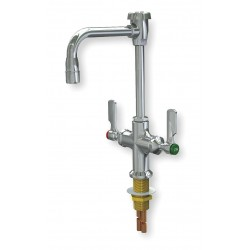 WaterSaver Faucet - L414VB55LE - Rigid/Swing Gooseneck Laboratory Faucet, Deck, 3.00 gpm