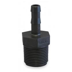 Banjo - HB038-025 - Barbed x MNPT Adapter, Polypropylene, 1/4 Barb Size, Black