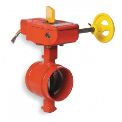 Anvil Fittings - 7005015107 - Grooved-Style Butterfly Valve, Ductile Iron, 300 psi, 6 Pipe Size