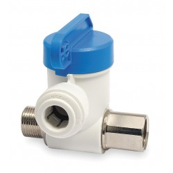 John Guest - ASVPP1 - Polypropylene/Nickel Brass Male Compression x Female Compression Stop Valve Adapter, 1/4 Tube O.D.