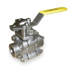 Apollo Valves - 86A20501 - 316 Stainless Steel Socket x Socket Ball Valve, Locking Lever, 1 Pipe Size