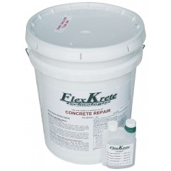 FlexKrete - FK-102G - Gray Concrete Repair Compound, 5 gal. Size, Coverage: 3.3 cu. ft.