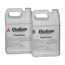 FlexKrete - FK-PRIMER - (2) 1-gal. Bottles Primer, Concrete with 2 hrs. Dry Time, Clear