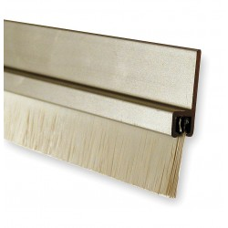 Pemko - 10862CNB48 - Brush Door Sweep, Anodized Aluminum, 4 ft. Length, 7/8 Flange Height, 5/8 Insert Size