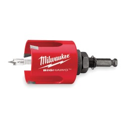 Milwaukee Electric Tool - 49-56-9000 - Big Hawg Wood Hole Cutter, Dia 2-1/8