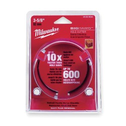 Milwaukee Electric Tool - 49-56-9030 - 3-5/8-Dia. Hole Cutter for Wood, 2-1/4 Max. Cutting Depth, 5/8-18 Thread Size