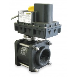 Banjo - EV204FP - Polypropylene Electronic Actuated Ball Valve, 2 Pipe Size, 12VDC Voltage