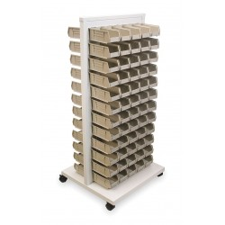 Akro-Mils / Myers Industries - 30553220S - 24-5/8 x 23 x 52 Mobile Louvered Floor Rack with 150 lb. Load Capacity, White