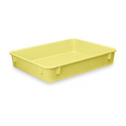 Lewisbins - NO96-2 YELLOW - Nesting Container, Yellow, 2H x 9-7/8L x 6-1/4W, 1EA