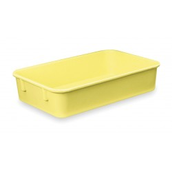Lewisbins - NO129-2 YELLOW - Nesting Container, Yellow, 2H x 12-3/8L x 9-3/4W, 1EA