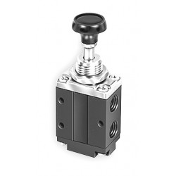 Parker Hannifin - 524431000 - 1/4 Manual Air Control Valve with 3-Way, 2-Position Air Valve Type
