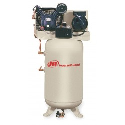 Ingersoll-Rand - 2475N7.5FP-230-1 - 1 Phase Vertical Tank Mounted 7-1/2HP Electric Air Compressor, 80 gal., 175 psi