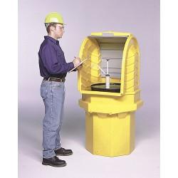 Ultratech - 9640 - UltraTech 36 X 36 X 66 Ultra-Hard Top P1 Plus Spill Pallets Yellow Polyethylene Spill Pallet, ( Each )