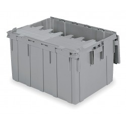 Buckhorn / Myers Industries - 39280 - Attached Lid Container, Gray, 15-1/2H x 28L x 20-13/16W, 1EA