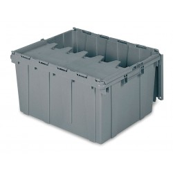 Buckhorn / Myers Industries - 39175 - Attached Lid Container, Gray, 12-1/2H x 24L x 19-1/2W, 1EA