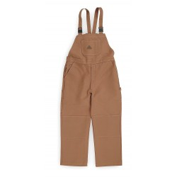 VF Corporation - BLF8BD RG L - Brown Bib Overalls, Cotton/Nylon, Fits Waist Size: 46-1/2 to 48-1/2, 30 Inseam, 14.6 cal./cm2 ATP