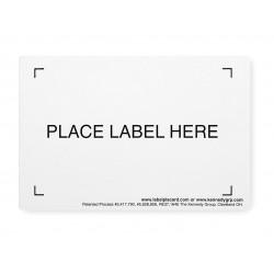 Buckhorn / Myers Industries - 3FZC4PK12 - Container Label Holder, White, PK12