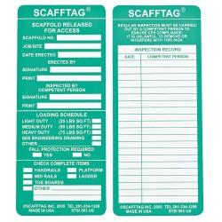 Brady - 104113 - Scafftag Std Inserts 3 1/4x7 5/8 Green